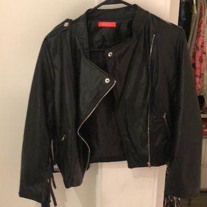Jackets & Blazers - Leather Jacket with fringe! NEVER WORN.